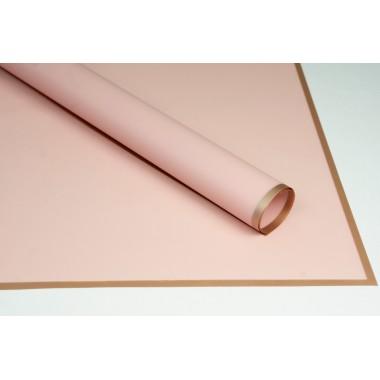 Пленка листовая матовая с кантом 58см*58см, 20шт. в уп. (цвет розовый)