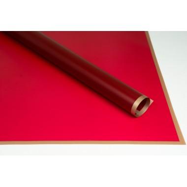 Пленка листовая матовая с кантом 58см*58см, 20шт. в уп. (цвет винный)