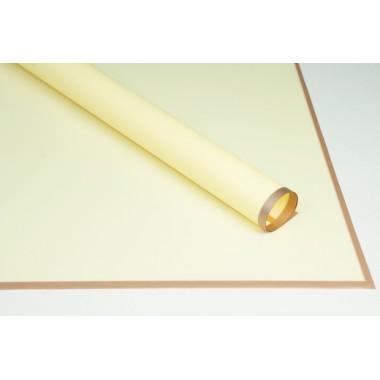 Пленка листовая матовая с кантом 58см*58см, 20шт. в уп. (цвет желтый)