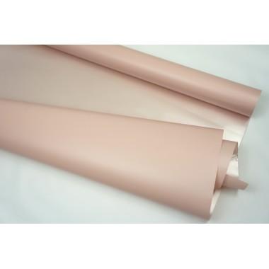 Пленка матовая перламутровая,58см*10м,50 мкм ( цвет пепельно-розовый)