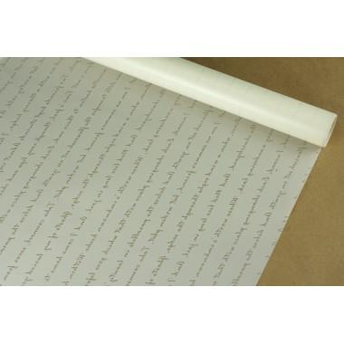 """Пленка матовая корейская """"послание 58см*10м (цвет белый)"""