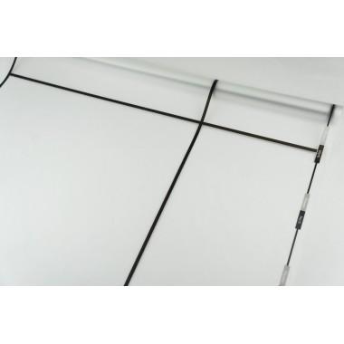Пленка матовая корейская с окантовкой 58см*10м (цвет черный)