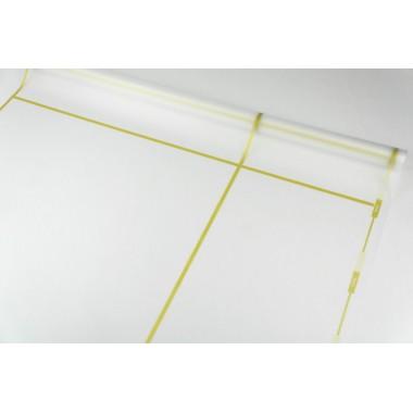 Пленка матовая корейская с окантовкой 58см*10м (цвет золото)