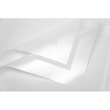 Пленка листовая матовая с широким кантом 58см*58см, 20шт. в уп. (цвет белый)