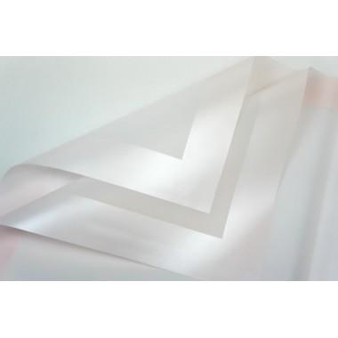 Пленка листовая матовая с широким кантом 58см*58см, 20шт. в уп. (цвет светло-розовый)