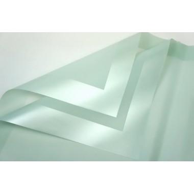 Пленка листовая матовая с широким кантом 58см*58см, 20шт. в уп. (цвет светло-зеленый)