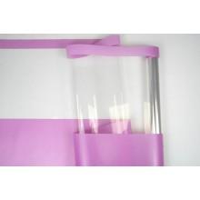Пленка с окошком, ( цвет розовый) 58см*10м, 50 мкм