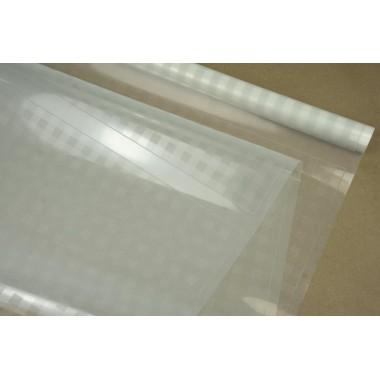 Пленка прозрачная в клеточку, ( цвет белый) 58см*10м, 45 мкм
