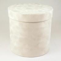 "Шляпная коробка ""Бархат"", цвет белый, размер 17,5*17см"