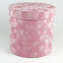 "Шляпная коробка ""Бархат"", цвет розовый, размер 17,5*17см"