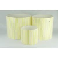 Цилиндры для цветов с рис.мелкая желтая полоска(набор 3 шт), размер 17см*14см,14см*14см,10см*9см)