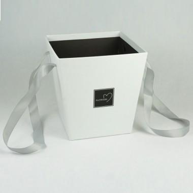 Кашпо для цветов (белый), размер 17см*17см*18см