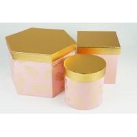 """Набор шляпных коробок """"Пушинка микс"""", цвет розовый (3шт), размер 12,2*12,2см, 13,5*13,5см, 22,5*15см"""