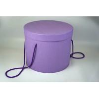 Шляпная коробка 25*20,5см (цвет сиреневый)