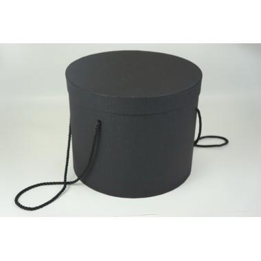 Шляпная коробка 25*20,5см (цвет черный)