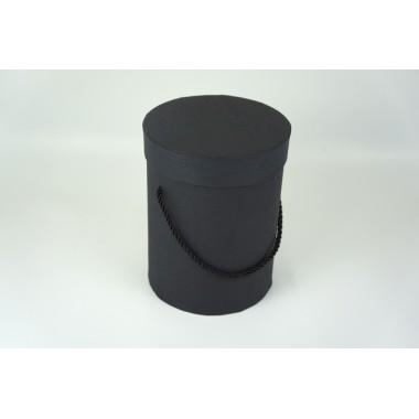 Шляпная коробка 14*18,5см (цвет черный)