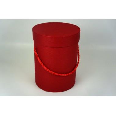 Шляпная коробка 14*18,5см (цвет бордовый)