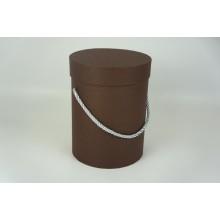 Шляпная коробка 14*18,5см (цвет коричневый)