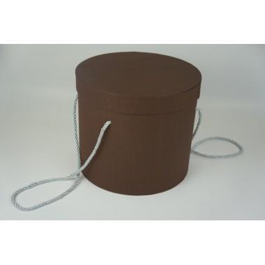 Шляпная коробка 19*22см (цвет коричневый)