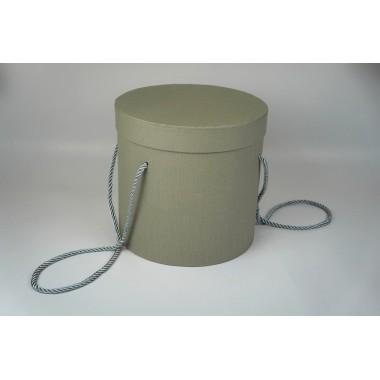 Шляпная коробка 18*19см (цвет серый)