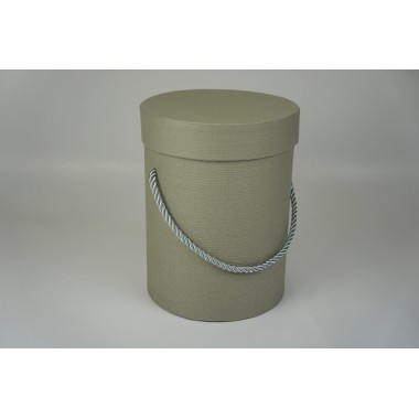 Шляпная коробка 14*18,5см (цвет серый)