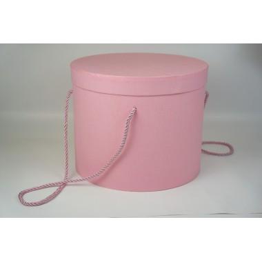 Шляпная коробка 25*20,5см (цвет светло-розовый)