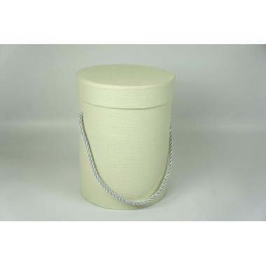 Шляпная коробка 14*18,5см (цвет кремовый)