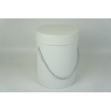 Шляпная коробка 14*18,5см (цвет белый)