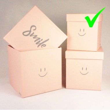 """Шляпная коробка """"Smile"""", цвет розовый, размер 15*15*17,5см,"""
