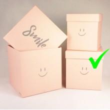 """Шляпная коробка """"Smile"""", цвет розовый, размер 18*18*19см,"""