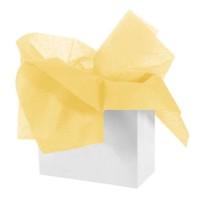 Бумага тишью 50см*66см, 50шт. в уп. (цвет желтый)