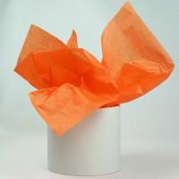 Бумага тишью 50см*66см, 50шт. в уп. (цвет оранжевый)