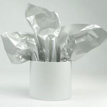 Бумага тишью 50см*66см, 25шт. в уп. (цвет серебро)
