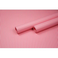 """Бумага упаковочная с рисунком """"Полоска малая"""" 60см*10м (белый на розовом)"""