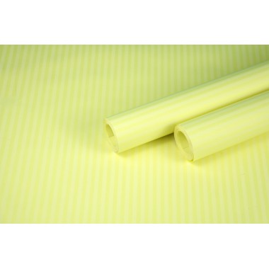 """Бумага упаковочная с рисунком """"Полоска малая"""" 60см*10м (белый на желтом)"""