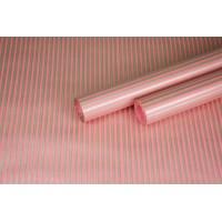 """Бумага упаковочная с рисунком """"Полоска малая"""" 60см*10м (бронза на розовом)"""
