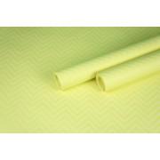 """Бумага упаковочная с рисунком """"Зигзаг"""" 60см*10м (белый на желтом)"""