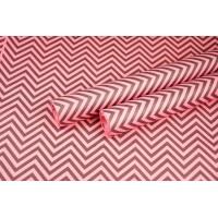 """Бумага упаковочная с рисунком """"Зигзаг"""" 60см*10м (черный на розовом)"""