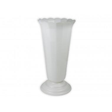 Ваза малая рифленая (h=35см, d=19 см, цвет белый)