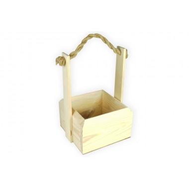 Ящик деревянный сплошной 15см*15см (цвет натуральный)