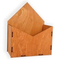 Конверт для цветов деревянный 24см*19см*10см (цвет коричневый)