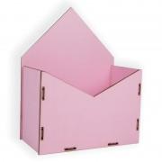 Конверт для цветов деревянный 24см*19см*10см (цвет нежно-розовый)