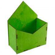 Конверт для цветов деревянный 24см*19см*10см (цвет салатовый)