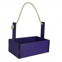 Ящик декоративный большой 24см*16см (цвет фиолетовый)