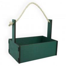 Ящик декоративный большой 24см*16см (цвет изумрудный)