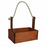 Ящик декоративный большой 24см*16см (цвет коричневый)