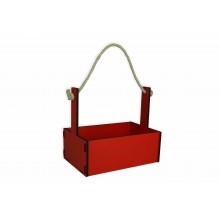 Ящик декоративный большой 24см*16см (цвет красный)