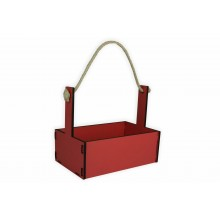 Ящик декоративный большой 24см*16см (цвет розовый)