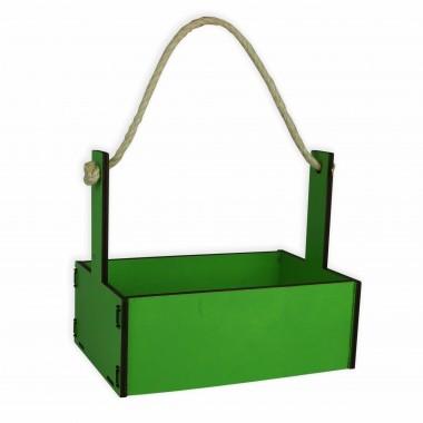 Ящик декоративный большой 24см*16см (цвет зеленый)