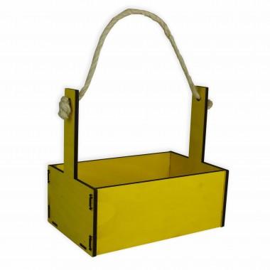 Ящик декоративный большой 24см*16см (цвет желтый)